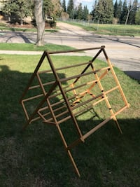 brown wooden 4-layer rack Calgary, T2J 0S8