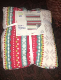 Fleece throws never used Bakersfield