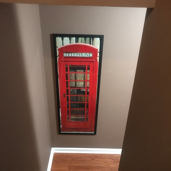 London Phone Booth Home Decor