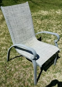 Grayish brown patio chair set of 8