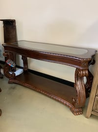 Brand new luxury design real wood sofa table clearance sale o down options Jacksonville, 32216