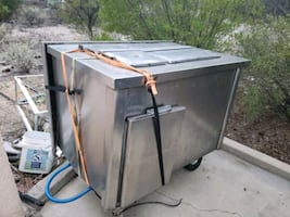 Counter top stainless steel refrigerator/freezer