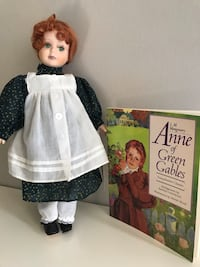 Anne Gables doll with book included, right shoe missing; other than that is in very good shape Edmonton, T5T 0K1