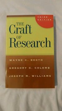 The Craft of Research by Wayne C. Booth Toronto, M1P 4X6