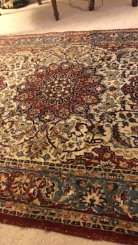 brown, red, and white floral area rug 3712 km