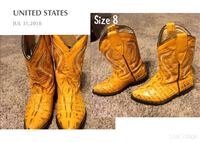 pair of brown leather cowboy boots Cleburne, 76031