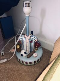 Sports lamp, And picture and 2 sets of bookends