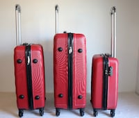 "Brand New 3 pcs Red Luggage 20""24""28"" each suitcases Toronto"