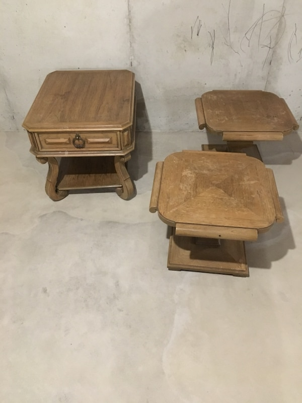 Thomasville End Tables From 1965 All Solid Wood