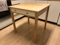 Brown wooden single drawer side table Richmond, V6Y 1X9