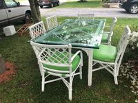 Glass top table with 6 chairs Hagerstown, 21740