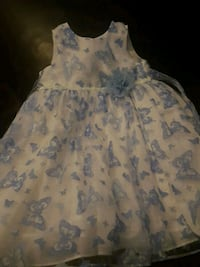 White and blue butterfly dress 1492 km