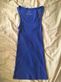 XS Aerie Ribbed Tank Top Navy Blue