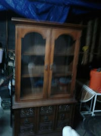 brown wooden China cabinet Los Angeles, 90044