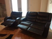 black leather home theater sofa Brampton