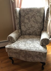 gray and white floral fabric sofa chair Succasunna, 07876