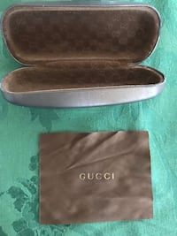 Authentic Gucci Eyeglass Case  Hard cover and pre- owned