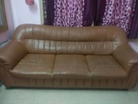 brown leather tufted sectional couch Bengaluru, 560034
