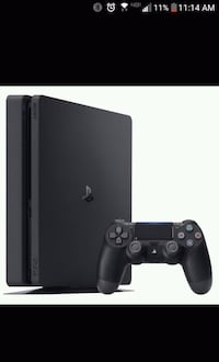 black Sony PS4 console with controller DeLand, 32724