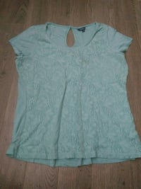 women's teal scoop-neck shirt Regina, S4S