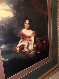 woman in red dress painting Wasco, 93280