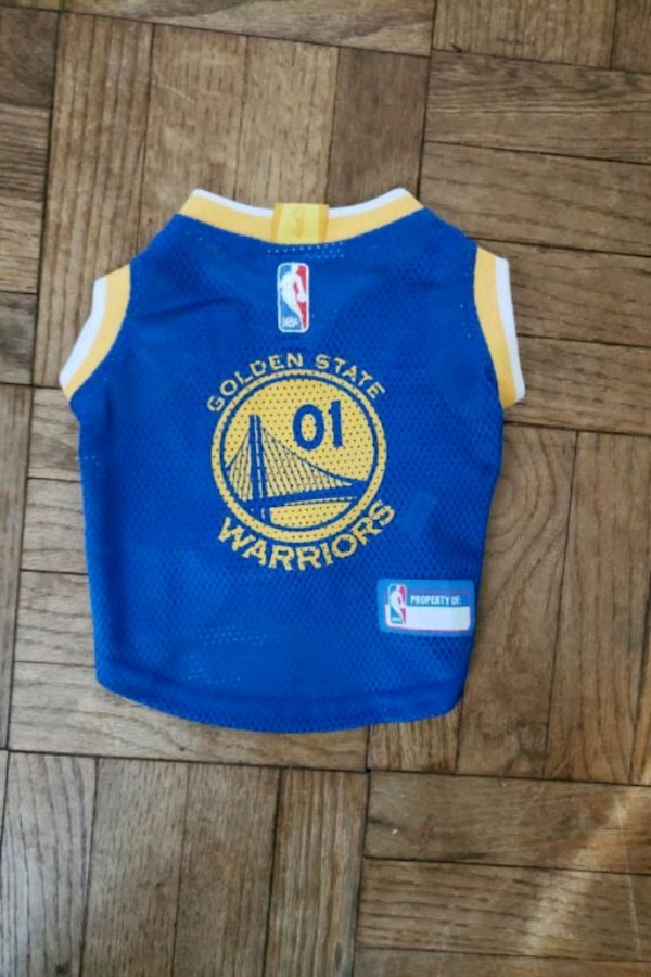 online store 8ee78 7521d Brand new small Warriors Jersey for pet