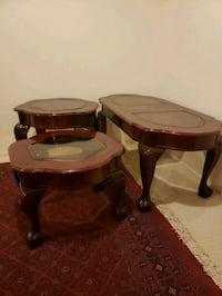 three brown wooden side tables Newmarket, L3X 1W5