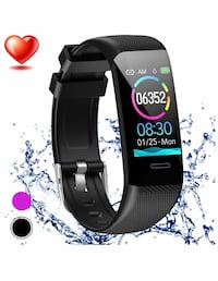 New Fitness Tracker Watch Heart Rate Monitor, 1.14'' ColorScreen IP67