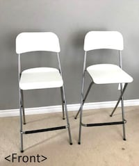 two white-and-gray folding chairs Mississauga, L5B