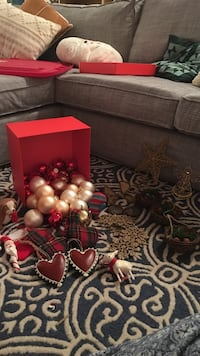 silver and red bauble lot in red box Herriman, 84096