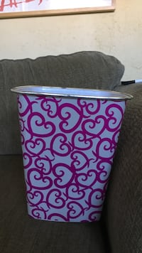white and purple floral print container Surrey, V3R 3J8