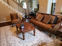 Couches and matching furniture set