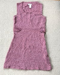 Pink knitted Tunic Dress Women's Small to Medium Sleeveless