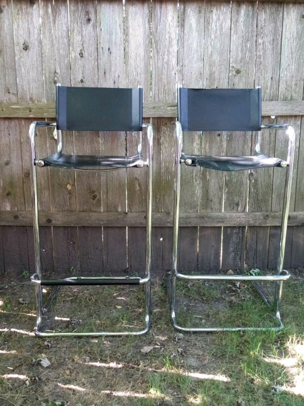 Marvelous Mid Century Chrome Cantilever Bar Stools Pdpeps Interior Chair Design Pdpepsorg
