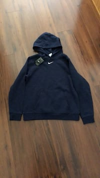 Boys XL brand new Nike fleece hoodie navy blue