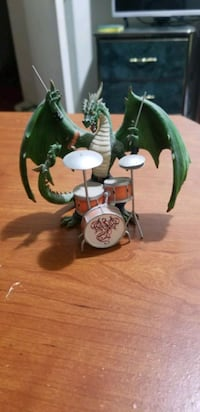 Bradford exchange Dragon figurine with drums