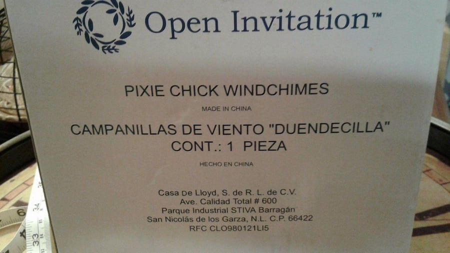 Pixie Faries Chick Windchimes NEW  1