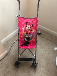 red and black Mickey Mouse lightweight stroller Laurel, 20708