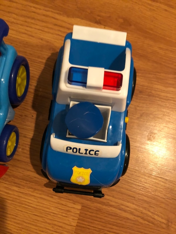 Toddler toy train and police car- lights up and makes noises b2cd11c1-ef12-4def-a773-f5d0429e4cef