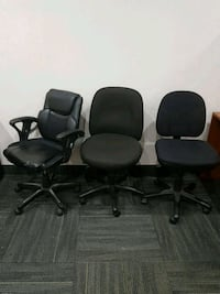 3 office chairs (selling as package)