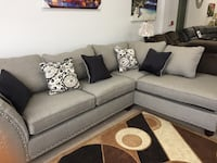 Fabric sectional with pillows  Elgin, 60120