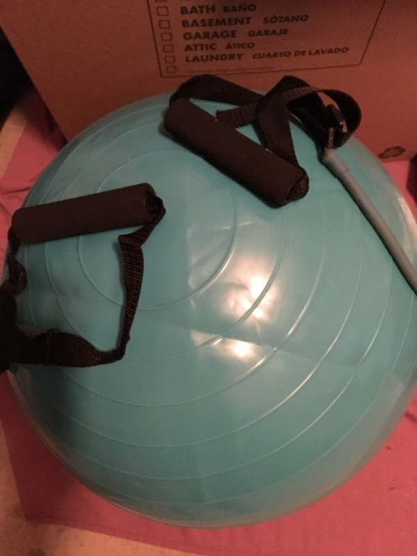 Exercise Ball with Resistance Bands