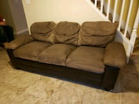brown leather 3-seat sofa Beltsville, 20705