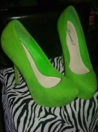 Green Stilletto Pumps Size 6 Independence, 64052