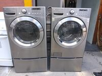 """LG 27"""" Front Load Washer and Dryer Gas Set w Pedestals  New York, 10456"""
