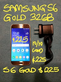 FIRM$225orTRADESamsungGOLD S6 32GB likeNEW+Charger Pointe-Claire, H9R 3A3
