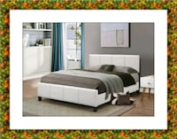 White platform bed with mattress box &delivery  McLean