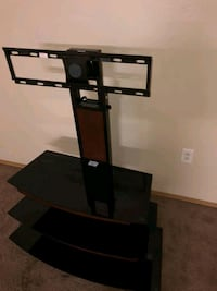 black TV stand with mount Meridian, 83642