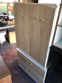 Brown wooden 2-door cabinet .. donated for grieving parents society Edmonton, T5L 0P7