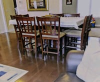 9 Piece Pub Style Dining Room Table Markham, L3S 3Z2